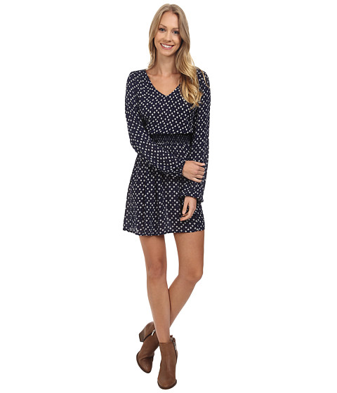 Imbracaminte Femei Lucky Brand Printed Smocked Dress Blue Multi
