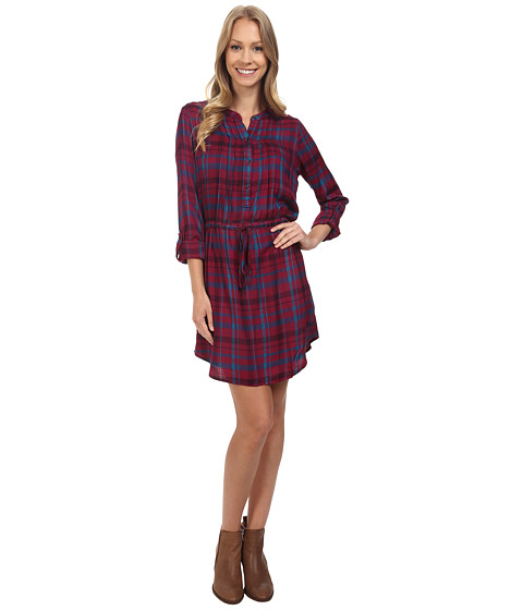 Incaltaminte Femei Lucky Brand Bungalow Plaid Dress Burgundy Multi