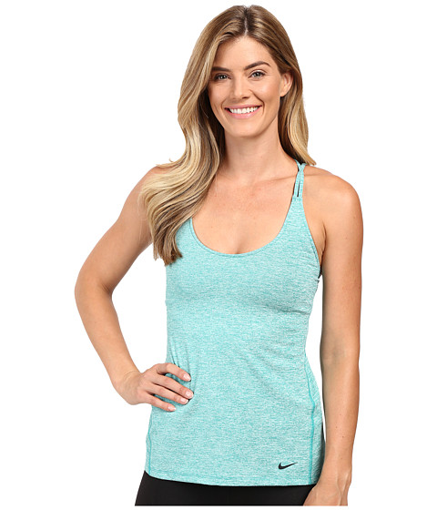 Imbracaminte Femei Nike Strappy Training Tank Teal ChargeHeatherBlack