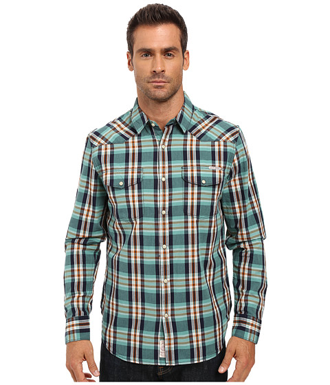 Imbracaminte Barbati Lucky Brand Santa Fe Western Shirt BlueGreenOrange Spice