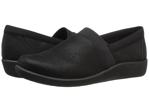 Incaltaminte Femei Clarks Sillian Blair Black Syntheitc Nubuck