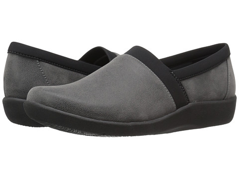 Incaltaminte Femei Clarks Sillian Blair Grey Synthetic Nubuck