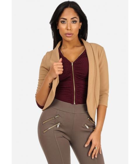 Imbracaminte Femei CheapChic Asymmetrical Texture Blazer (Beige) Multicolor