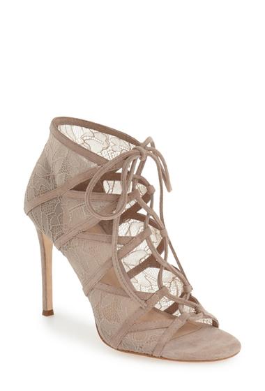 Incaltaminte Femei Pour La Victoire Elery Lace-Up Sandal TAUPE LACE