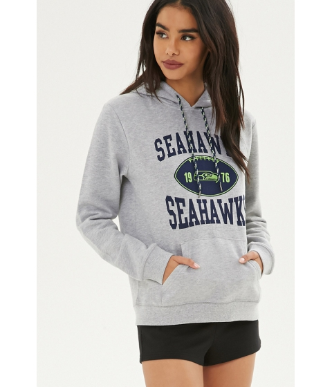 Imbracaminte Femei Forever21 NFL Seahawks Fleece Hoodie Heather greyblue