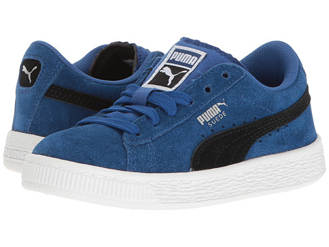Incaltaminte Baieti PUMA Suede PS (Little KidBig Kid) True BluePuma Black