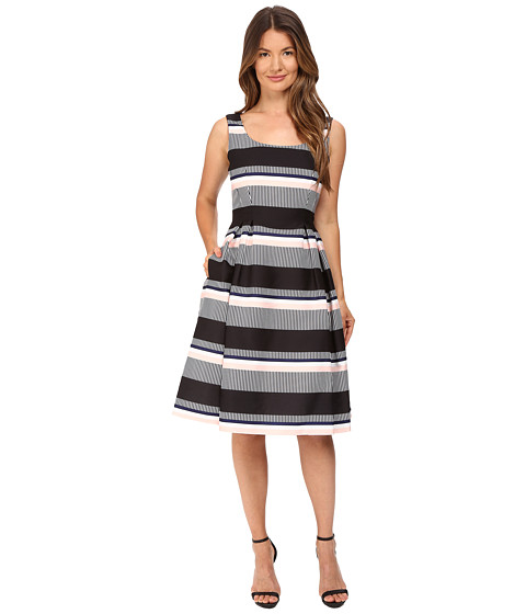 Imbracaminte Femei Kate Spade New York Bay Stripe Fit and Flare Dress Black