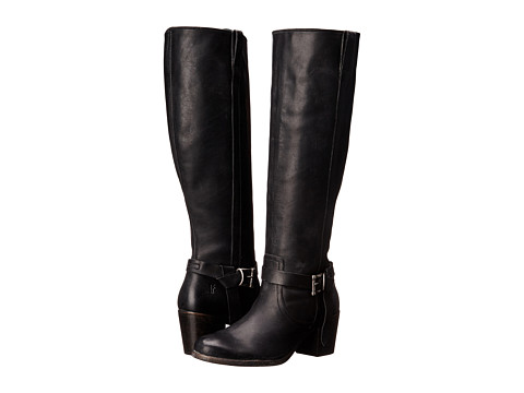 Incaltaminte Femei Frye Malorie Knotted Tall Black Polished Stonewash