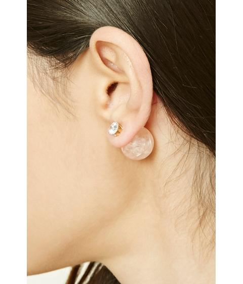Bijuterii Femei Forever21 Faux Marble Ear Jackets Goldpeach