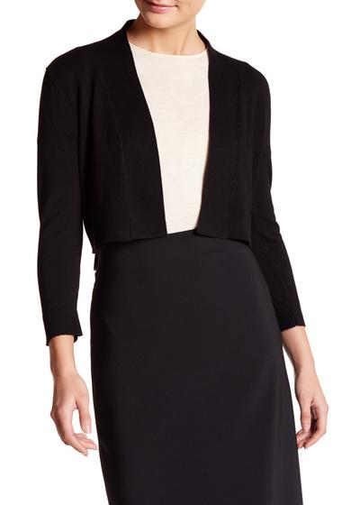 Imbracaminte Femei Modern American Designer 34 Length Sleeve Knit Shrug BLACK