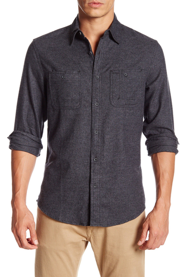 Imbracaminte Barbati 14th Union Regular Fit Flannel Shirt BLACK CAVIAR