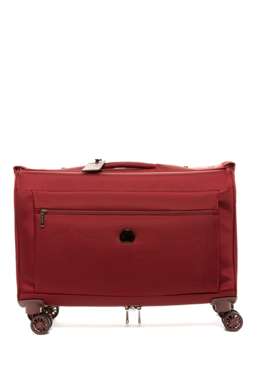 Femei Delsey Luggage 14 Montmartre Carry-On Spinner Trolley Garment Tote BORDEAUX