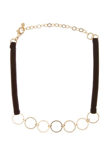 Bijuterii Femei Free Press 7 Open Ring Choker BLACK-GOLD