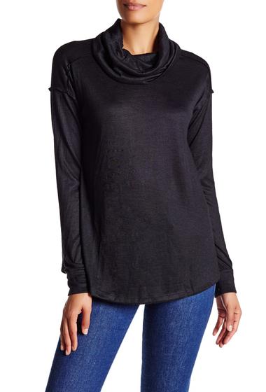 Imbracaminte Femei Wild Pearl Long Sleeve Cowl Neck Sweater BLACK