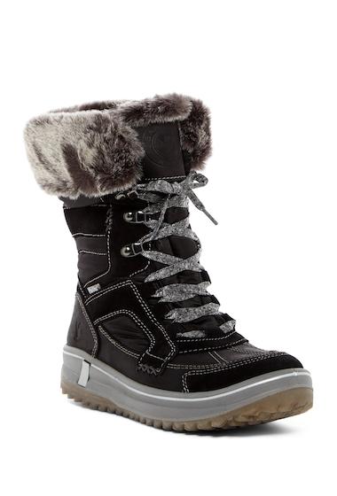 Incaltaminte Femei Santana Canada Marta Faux Fur Insulated Waterproof Winter Boot BLACK LEA