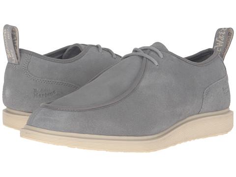 Incaltaminte Femei Dr Martens Leverton 2-Eye Shoe Grey Mare Hi Suede