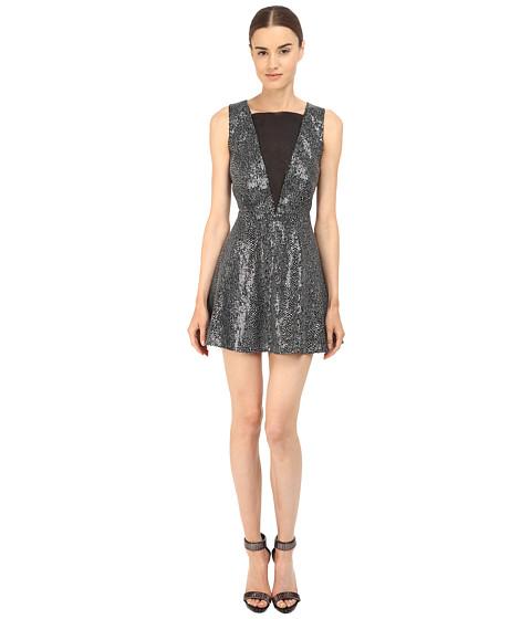 Imbracaminte Femei McQ Deep V-Neck Dress Silver