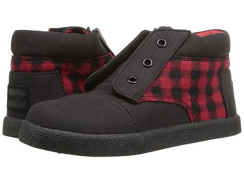 Incaltaminte Fete TOMS Paseo High Sneaker (InfantToddlerLittle Kid) RedBlack Plaid