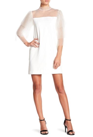 Imbracaminte Femei Gracia Tiered Mesh Sleeve Dress WHITE