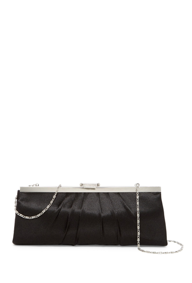 Genti Femei Jessica McClintock Pleated Evening Clutch BLACK