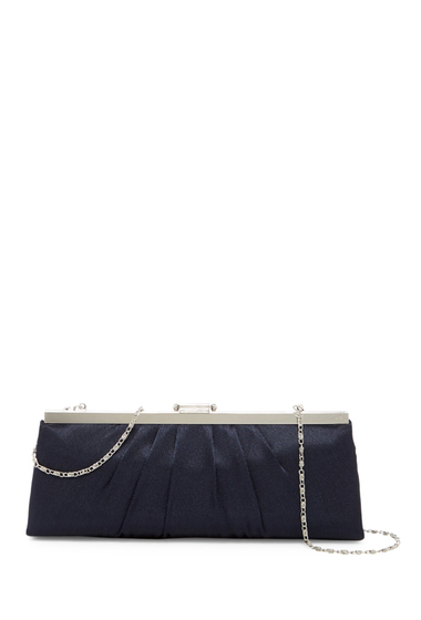 Genti Femei Jessica McClintock Pleated Evening Clutch NAVY