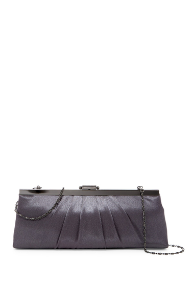 Genti Femei Jessica McClintock Pleated Evening Clutch PEWTER