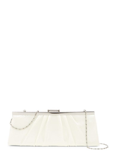 Genti Femei Jessica McClintock Pleated Evening Clutch IVORY