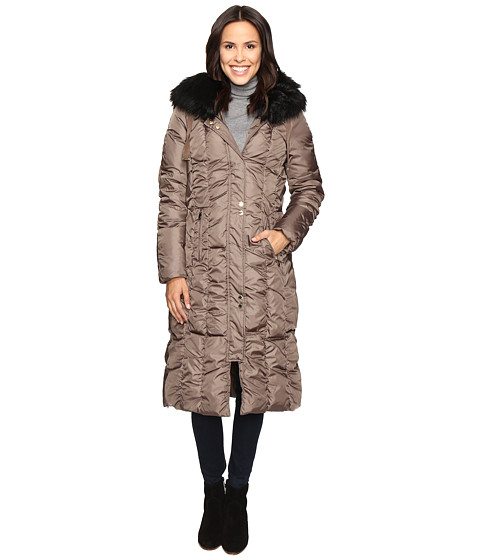 Imbracaminte Femei Via Spiga Maxi Coat with Rouching Detail Skim Latte