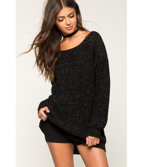 Imbracaminte Femei CheapChic Cross Back Lurex Ribbed Sweater Black