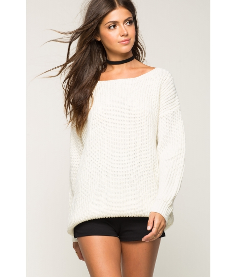 Imbracaminte Femei CheapChic Cross Back Lurex Ribbed Sweater Ivory