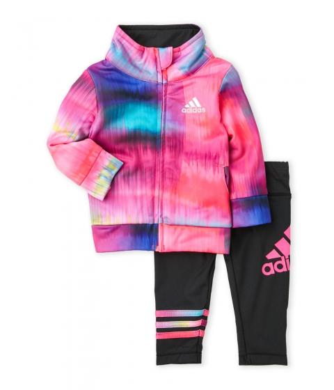 Imbracaminte Fete adidas (NewbornInfant Girls) Two-Piece Tie-Dye Tricot Set Bright Pink