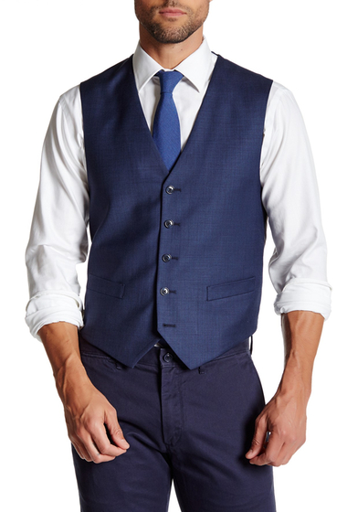 Imbracaminte Barbati Tommy Hilfiger Five Button Wool Vest BLUE