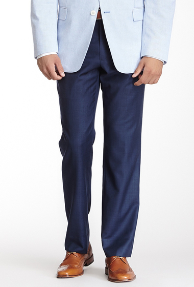 Imbracaminte Barbati Tommy Hilfiger Tyler Blue Sharkskin Wool Dress Pant - 30-34 Inseam BLUE