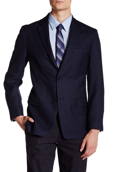 Imbracaminte Barbati Tommy Hilfiger Bray Dot Two Button Notch Lapel Suit Separates Jacket NAVY