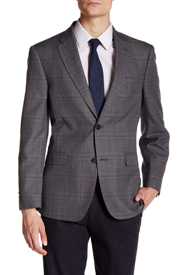 Imbracaminte Barbati Tommy Hilfiger Ethan Grey Plaid Two Button Notch Lapel Suit Separates Jacket GREY