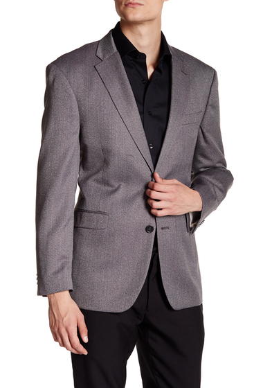 Imbracaminte Barbati Tommy Hilfiger Ethan Herringbone Two Button Notch Lapel Suit Separates Jacket BLACK-WHITE