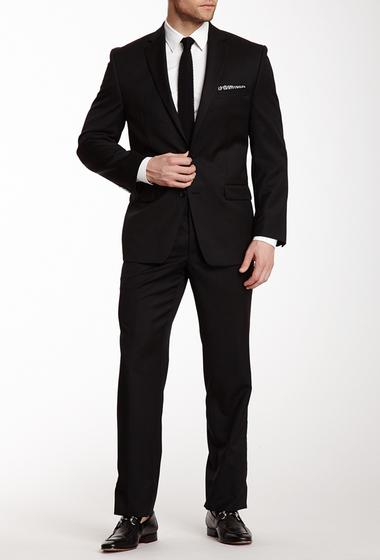 Imbracaminte Barbati Calvin Klein Black Solid Two Button Notch Lapel Suit BLACK