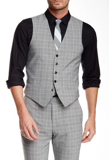 Imbracaminte Barbati Original Penguin Taupe Five Button Vest BLCKWHTPLD