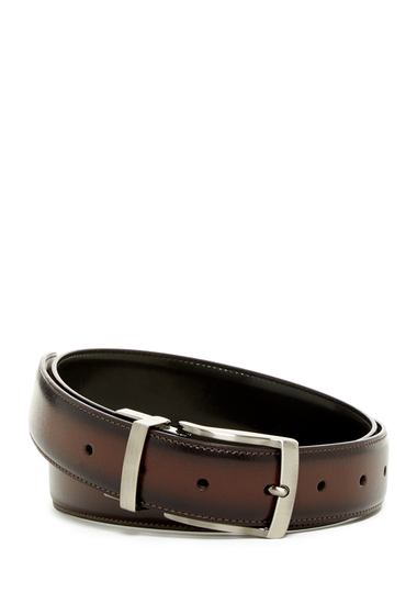 Accesorii Barbati Original Penguin Burnished Edge Reversible Leather Belt BURNISHED