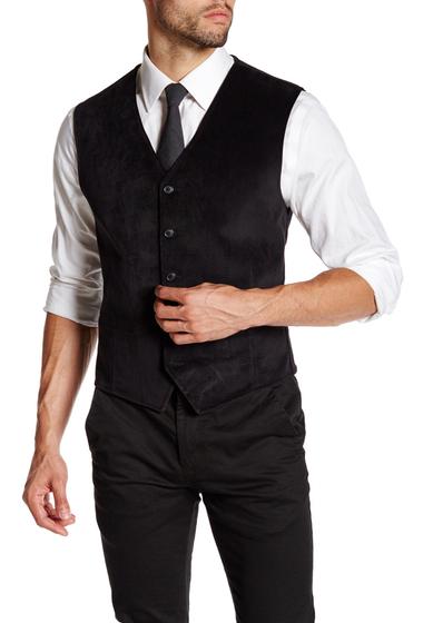 Imbracaminte Barbati English Laundry Trim Fit Rogers Black Vest BLACK