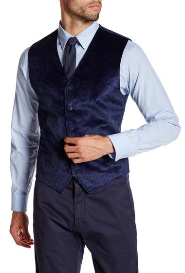 Imbracaminte Barbati English Laundry Trim Fit Dean Black Vest NAVY