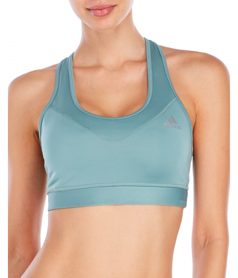Echipament-sportiv Femei adidas Steel Green Techfit Climalite Sports Bra Steel Green
