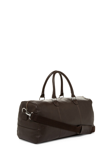 Genti Barbati Cole Haan Leather Duffel CHOCOLATE