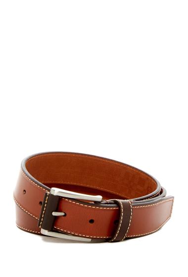 Accesorii Barbati Boconi Topstitched Leather Belt COGNAC