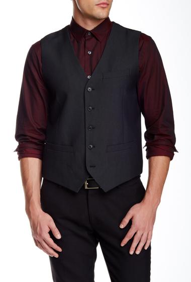 Imbracaminte Barbati Perry Ellis Slim Jacquard Vest BLACK