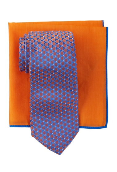 Accesorii Barbati Ted Baker London Remy Neat Silk Tie Pocket Square Set APRICOT