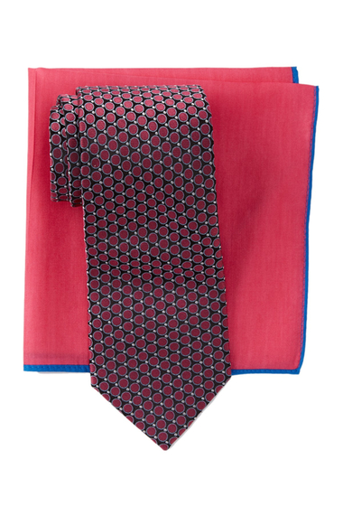 Accesorii Barbati Ted Baker London Remy Neat Silk Tie Pocket Square Set MAGENTA