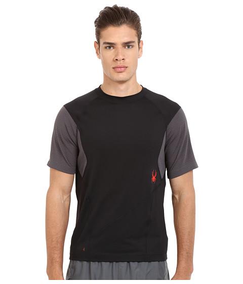 Imbracaminte Barbati Spyder Strabo Short Sleeve Shirt BlackPolar