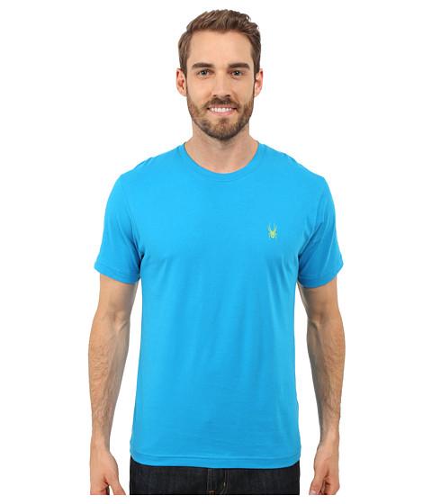 Imbracaminte Barbati Spyder Route Graphic Short Sleeve Shirt Electric BlueTheory Green