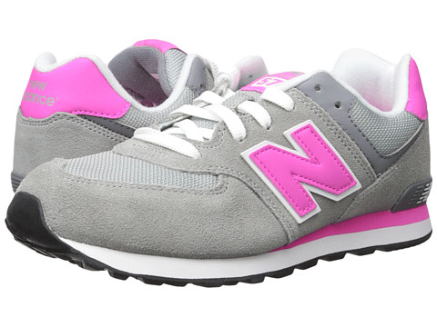 Incaltaminte Fete New Balance 574 (Big Kid) GreyPink